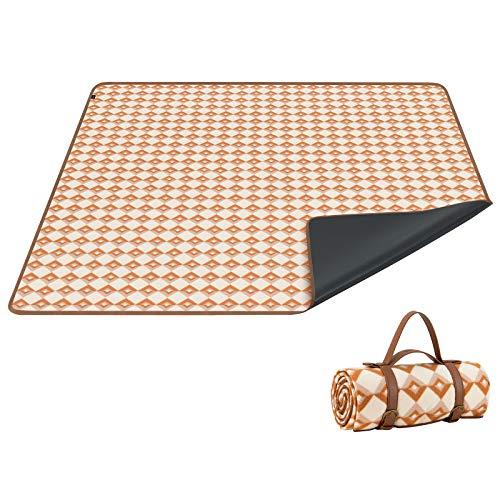 KingCamp Picknickdecke Stranddecke 150 X 200CM wasserdichte sanddichte mit Tragegriff für Picknicks Outdoor Essen im Freien Camping geeignet 3-5 Personen