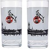 Unbekannt 1. FC Köln Trinkglas Skyline 2er Set, 0,3 Liter