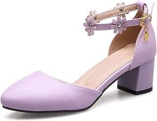 BalaMasa Womens ASL05978 Pu Block Heels