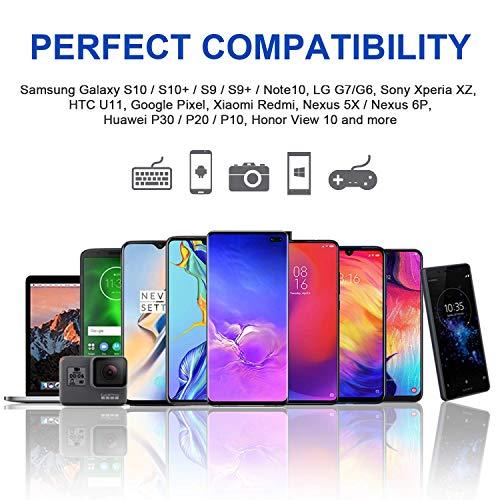 RAVIAD USB Typ C Kabel, USB C Ladekabel QC 3.0 USB 3.0 Schnelles Aufladen und Synchronisation USB C Kabel Kompatibel für Samsung Galaxy S10/S9/S8, Huawei P30/P20, Sony Xperia XZ, Google, OnePlus 1M