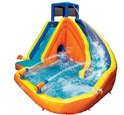 Review Of BANZAI Sidewinder Falls Inflatable Water Park Play Pool Slide with Water Cannons