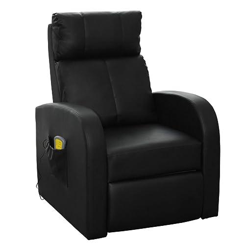 vidaXL Fauteuil Électrique de Massage et de Relaxation avec Télécommande Noir