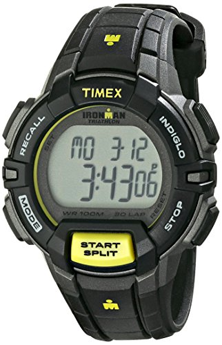 Timex Women's T5K813 Ironman Rugged 30 Mid-Size Blue/Pink Color Block Resin Strap Watch