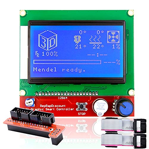 3D Printer Ramps 1.4 LCD 12864 Version Graphic Smart Display Controller Module with Adapter and Cable für RAMPS 1.4 Reprap LCD Display