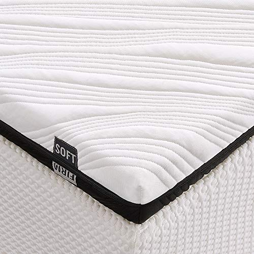 Inofia Mattress Topper, 3-Inch Gel-Infused King Memory Foam Mattress Pad, Ventilated 2-Layer Design with Removable Cover, CertiPUR-US Foam (King)
