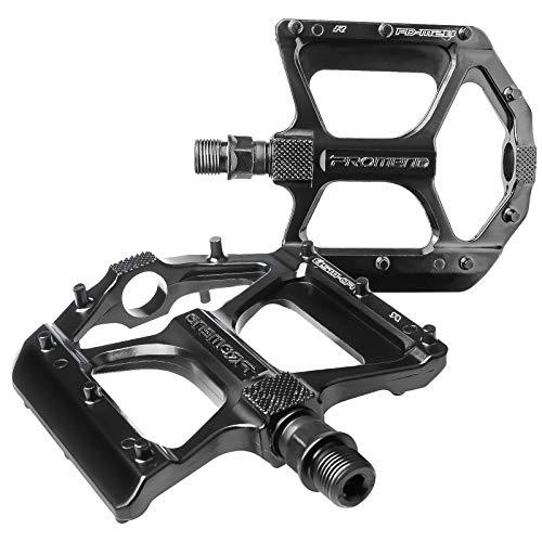 Pedali per Bici, Pedali MTB Resistenti in Lega di Alluminio Ultraleggera, Pedali per Bici da Strada Antiscivolo Antipolvere Impermeabili, Pedali Larghi con Doppio perno Filettato DU 9 16