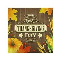 ディナークロスナプキン感謝祭パンプキンフードメープルファミリーディナー用キッチンテーブルナプキン6個セットディナーパーティーバンケットレストラン-50X 50 CM