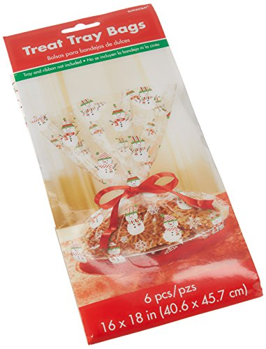 amscan Gingerbread Christmas Multicolored Cookie Tray Bags, 6 Ct.   Party Supply