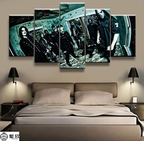 5 Panel Slipknot Heavy Metal Band Poster Leinwand Gedruckt Malerei Für Wohnzimmer Wandkunst Dekor Bild Kunstwerke Poster(size 3)