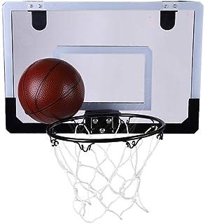 XINGLIAN Kinder Basketball-Vorstand 38x25cm H/ängendes R/ückenbrett Mit Fr/ühling An Der Wand Montiert Basketballkorb Net Set Tragbar