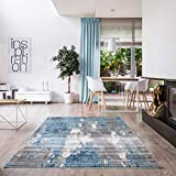 Luxe Weavers Victoria Abstract Light Blue 5x7 Area Rug 9084