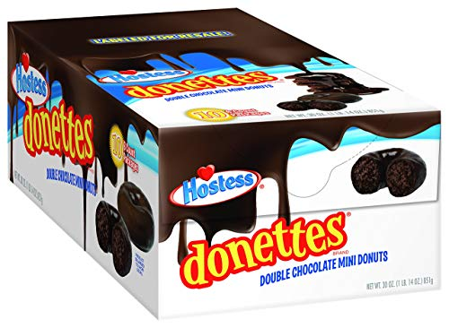 Hostess Double Chocolate Mini Donettes - 10 x 6 Pack - 60 Doughnuts - American Donuts …