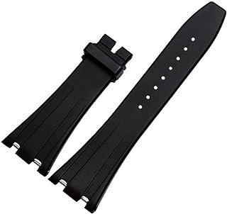 28mm Black Rubber Watch Band Strap Deployment Clasp for AP Audemars Piguet Royal Oak