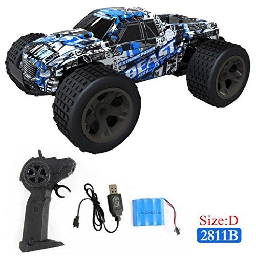 Routinfly Coche de carreras teledirigido de alta velocidad 1:20 2WD 4WD con mando a distancia para camión todoterreno