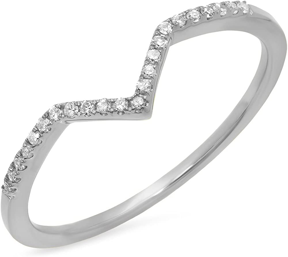Dazzlingrock Collection Recommended 0.10 Carat ctw Di 10K Gold Round Sale SALE% OFF White