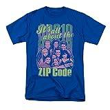 Código Postal 90210 Mens Camiseta de Manga Corta (Azul Real, XXX-Grande)