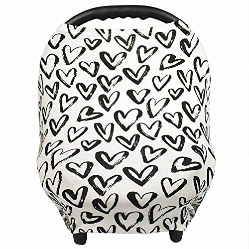 Gufix Infant Car Seat Cover The Stretchy Nursing Scarf Car Seat Canopy Shopping Cart Cover and High Chair Cover that Protects Babies and Breastfeeding Mothers The 8in1 Multiuse Cover for Babies