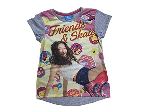 SOY LUNA - Camiseta de manga corta - para niña gris 6 años