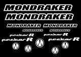 Ecoshirt IM-8B7Q-GNHX Pegatinas Mondraker Factor R Am11 Horquilla Fork Stickers Aufkleber Adesivi Bike, Blanco 010
