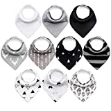 10-Pack Baby Bandana Bibs Upsimples Baby Boys Bibs for Drooling and...