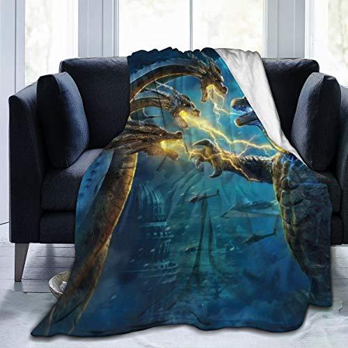 Godzi-lla-King Ultra-Soft Micro Fleece Blanket Throw Fuzzy Lightweight Hypoallergenic Plush Bed Couch Living Room