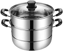 XMDD Steamer pot, home kitchen 2 layer stainless steel steamer set, outdoor, gas stove cooker universal steamer cookware, ...