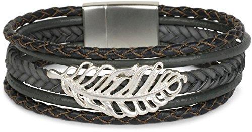 styleBreaker -   Armband mit Feder
