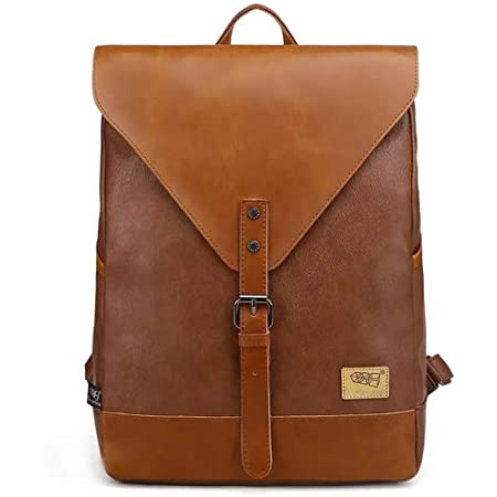 DokinReich Vintage Rucksack Wanderrucksack Retro Laptoprucksack Hiking Backpack Damen Herren Schultertasche Rucksack Für Camping Reise Geeignet, L, Braun