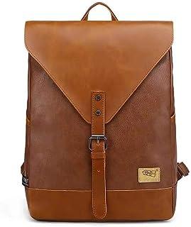 rucksack retro DokinReich Vintage Rucksack Wanderrucksack Retro Laptoprucksack Hiking Backpack Damen Herren Schultertasche Rucksack Für Camping Reise Geeignet, L, Braun