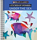 Brain Games - Sticker by Number: Under the Sea - 2 Books in 1 (Geometric Stickers)