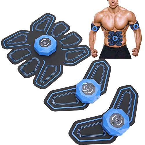 Entrenador muscular estimulador ABS, dispositivo de entrenamiento abdominal para músculos - Dispositivo de entrenamiento de fitness en casa con transmisión de voz inteligente para mujeres/hombres