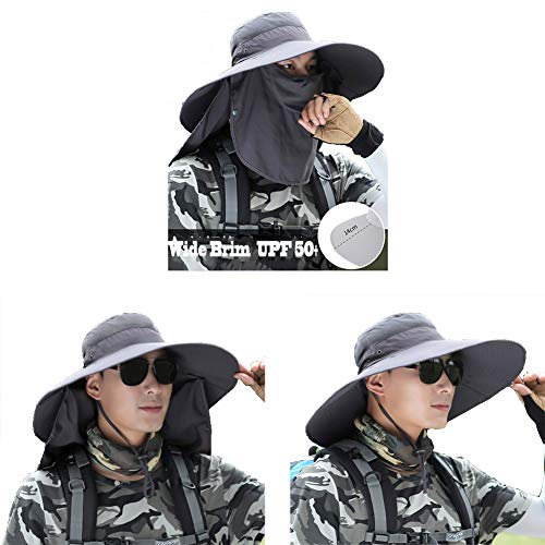 HUHD Angelmütze Mit Nackenklappe,breite Krempe Sunscreen Cover Sonnenschutz Sommer Outdoor Aktivitäten Für Männer-b 56-62cm(22-24inch)