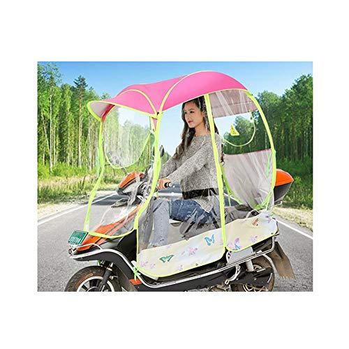 Universele auto motor scooter paraplu motorfiets regenhoes, volledig gesloten motor scooter paraplu mobiliteit zonnescherm en regenhoes waterdicht esdoornblad