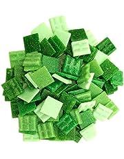 Armena Mozaïeksteen mozaïektegels glas 2x2cm 250g (ongeveer 85 stuks) groen gemengd