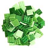 Armena Mosaikstein Mosaikfliesen Glas 2x2cm 250g Grün gemischt