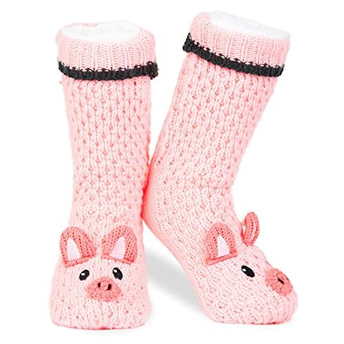 Slipper Fluffy Socks for Women Girls Animal Socks Wool Sherpa Fuzzy Bed...