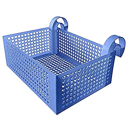 Washranp 1 Juego De Cesta Colgante De Plástico Portátil De Color Sólido, Flotadores, Organizador De Juguetes para Piscina para Parque Acuático Azul