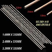 溶接棒 10個入り/セットレッド銅溶接ろうワイヤーはんだTIGフィラーロッドスチール軟鋼A18 1.6 / 2.4 / 3.2X330mm (Diameter : 3.2mmX330mm)