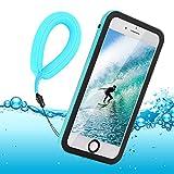 BDIG Coque Etanche iPhone 8 iPhone 7, Transparent Full-Body Rugged Coque Etui...