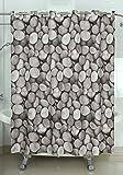 Duschvorhang 180X200 Wasserdicht Schimmelfrei 12 Duschringen Textil Dusche Bad, Design - Motiv:Design 1