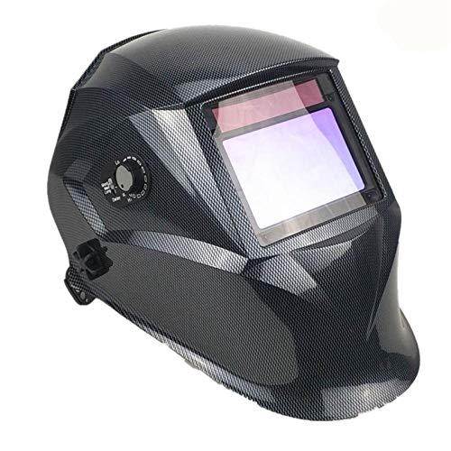 Schweißen 100 * 65mm 1111 4 Sensoren Schleifen DIN 3/4-13 mmA MIG WIG DE 379 UL CSA AS Solar Auto Verdunkelnden Schweißhelm (Color : Carbon)