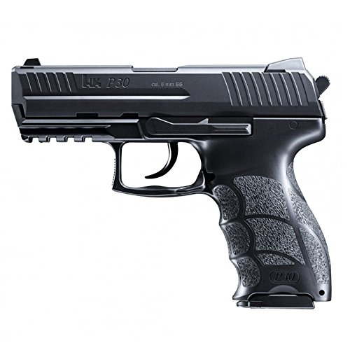 HECKLER & KOCH Softair P30. mit Maximum 0.5 Joule Airsoft Pistole, Schwarz, 6 mm