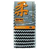オーエ ボディタオル 白 黒 約幅20×長さ90cm MB 柔 ソフトバブル 体洗い 日本製