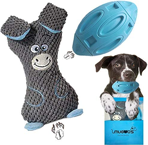 Dog Toys for Aggressive Chewers 2 Packed Squesky Dog Chew Toys and Plush Doy Toys Indestructible product image