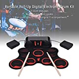 Mainstayae Portable Roll-Up Drum Set Digital Electronic Drum Kit 9 Silicon Drum Pads