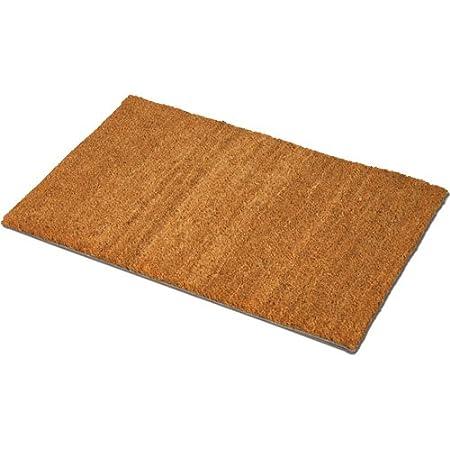 JVL - Felpudo (Fibra de Coco y PVC, 40 x 70 cm), Color marrón