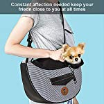 Zuukoo Pet Carrier, Dog Sling Bag Puppy Hands-free Sling Travel Carrier Bag with Adjustable Strap For Small Pets Perfect for Walking, Traveling or Daily Use 13