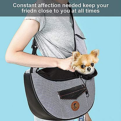 Zuukoo Pet Carrier, Dog Sling Bag Puppy Hands-free Sling Travel Carrier Bag with Adjustable Strap For Small Pets Perfect for Walking, Traveling or Daily Use 6