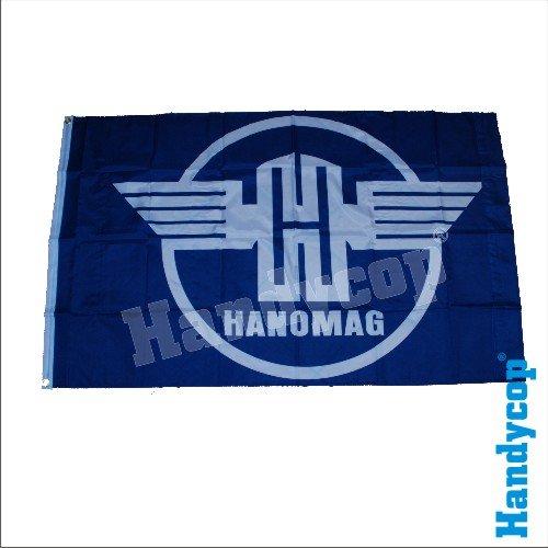 Original Handycop® Flagge Fahne F93474 Hanomag Logo Wappen Trecker Träcker Traktor 90 x 150 cm - wetterfeste Qualität