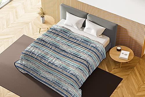 Italian Bed Linen Colcha de verano Basic estampada, Murales, 1 PLAZA